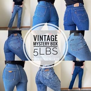 VINTAGE Jeans High Rise 5lbs Mystery Box Denim